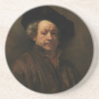 Rembrandt van Rijn's Self Portrait Fine Art Coaster