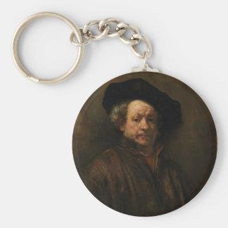 Rembrandt van Rijn's Self Portrait Fine Art Keychain