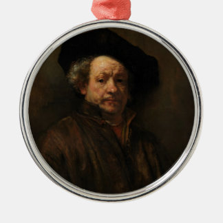 Rembrandt van Rijn's Self Portrait Fine Art Metal Ornament