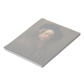 Rembrandt van Rijn's Self Portrait Fine Art Notepad