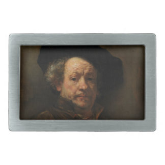 Rembrandt van Rijn's Self Portrait Fine Art Rectangular Belt Buckle