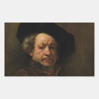 Rembrandt van Rijn's Self Portrait Fine Art Sticker
