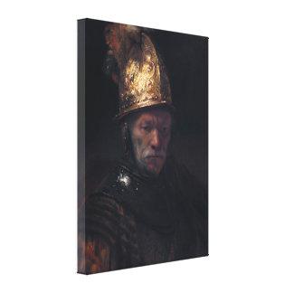 Rembrandt's Man in a Golden helmet Canvas Print