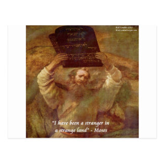 Rembrandt's Moses & Biblical Quote Postcard