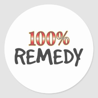 Remedy 100 Percent Round Stickers
