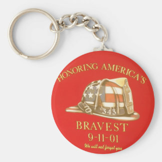 Remember 9-11 keychain