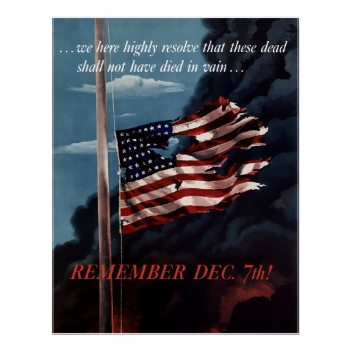 Remember December 7th Posters