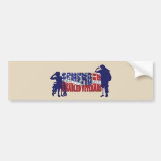 REMEMBER Disabled Veterans Bumper Sticker