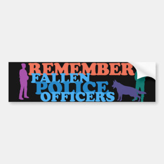 REMEMBER Fallen Police Officers Bumper Sticker