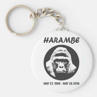 Remember Harambe Basic Round Button Keychain