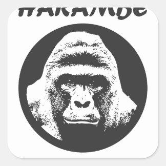 Remember Harambe Square Sticker