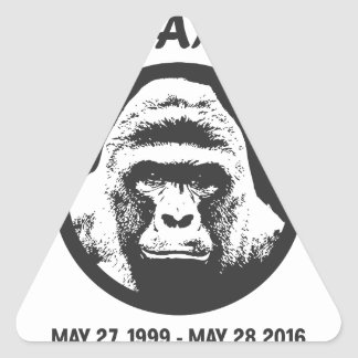 Remember Harambe Triangle Sticker