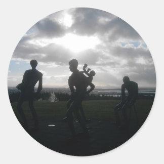 Remember Iceland Round Sticker