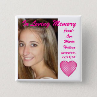 Remember Jenni 2 Inch Square Button