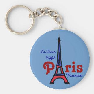 remember La Tour Eiffel Basic Round Button Keychain