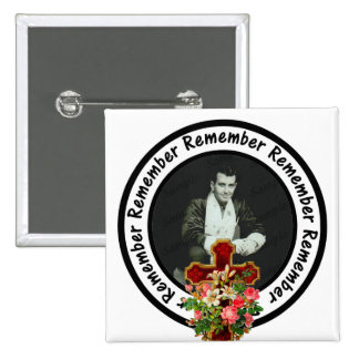 Remember Loved One Frame Circle Add Your Photo 2 Inch Square Button