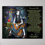 Remember Me Gypsy Fortune Teller Poem Poster