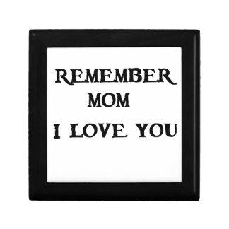 remember mom i love you gift box