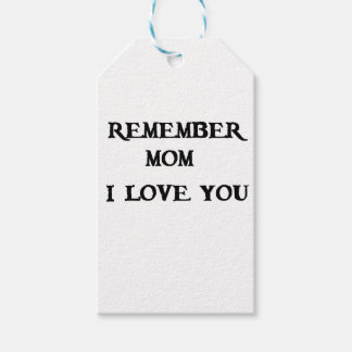 remember mom i love you pack of gift tags