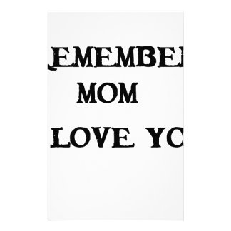 remember mom i love you stationery