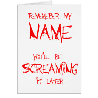 Remember My Name Card