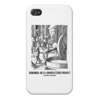 Remember: Oil Is A Manufactured Product iPhone 4 Cover