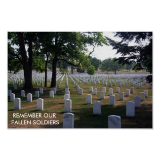 REMEMBER OUR FALLEN SOLDIERS POSTER