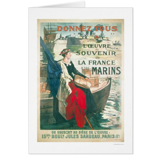 Remember our French Sailors - French Card