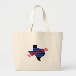 remember our heroes large tote bag