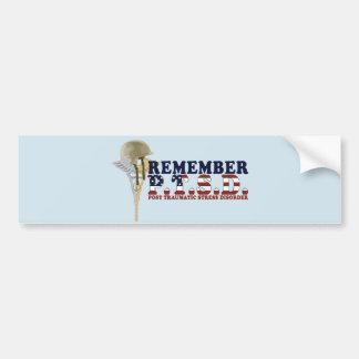 REMEMBER P.T.S.D. Bumpersticker Bumper Sticker