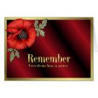 Remember Poppy Card
