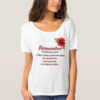Remember Poppy Tribute Shirt