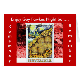 Remember, Remember Guy Fawkes Party Card