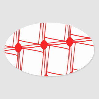 remember the 60s and 70s red pattern oval sticker