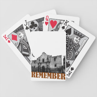 Remember the Alamo Bicycle Playing Cards