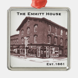 """""""Remember the Emmitt House"""", Christmas 2016 Silver-Colored Square Ornament"""