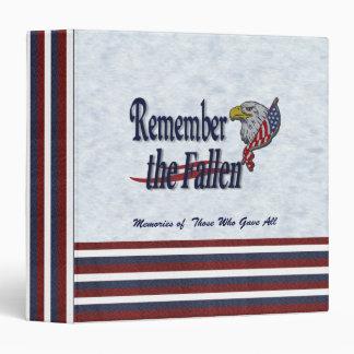 Remember the Fallen Memory Book Custom 3 Ring Binders