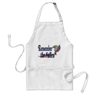 Remember the Fallen with Eagle and Flag Standard Apron