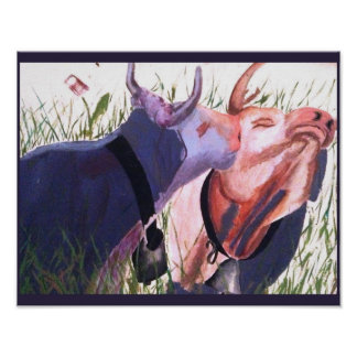 Remember the first Kiss  Kissing purple cows Poster