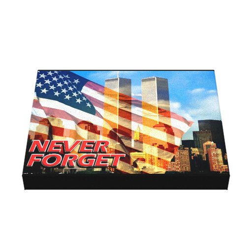 Remember The September 11, 2001 Terrorist Attacks Gallery Wrapped Canvas