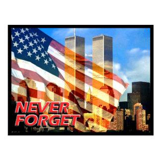 Remember The September 11, 2001 Terrorist Attacks Postcard
