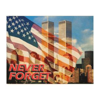 Remember The September 11, 2001 Terrorist Attacks Wood Print