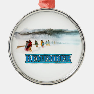 Remember the Trail of Tears Metal Ornament
