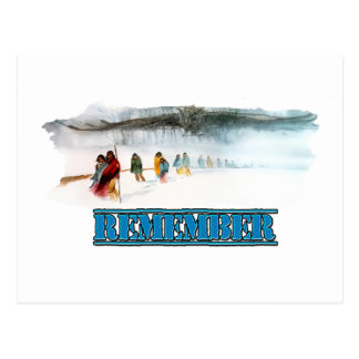 Remember the Trail of Tears Postcard