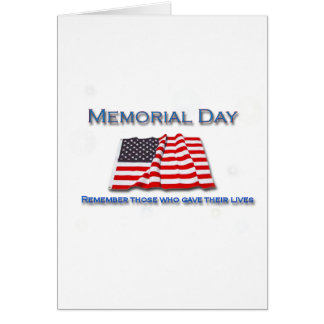 remember those who gave their lives card