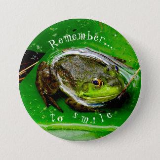 Remember to Smile Frog Pin
