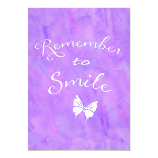 Remember To Smile Inspirational Quote Card