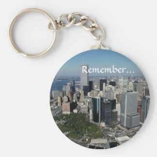 Remember ~ Twin Towers View~ WTC NYC Manhattan Keychain