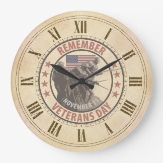 Remember Veterans Day Wall Clock