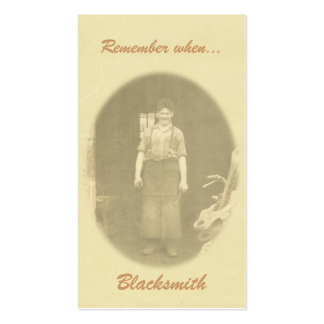 Remember when.... bookmark business card